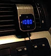 ФМ модулятор + сенсорное управление (Bluetooth / Громкая связь / 2хUSB / microSD / Вольтметр), фото 9