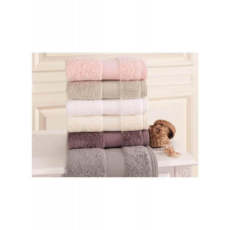 Soft cotton набор полотенец DELUXE 3 пр 32х50, 50х100, 75х150 SAND EKRU