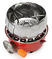 Газовая горелка Stenson R86807 портативная с ветрозащитой Оранжевый 008034, КОД: 949852
