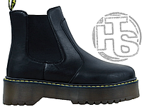 Женские ботинки Dr.Martens 2976 Platform Leather Chelsea Boots Black 24687001