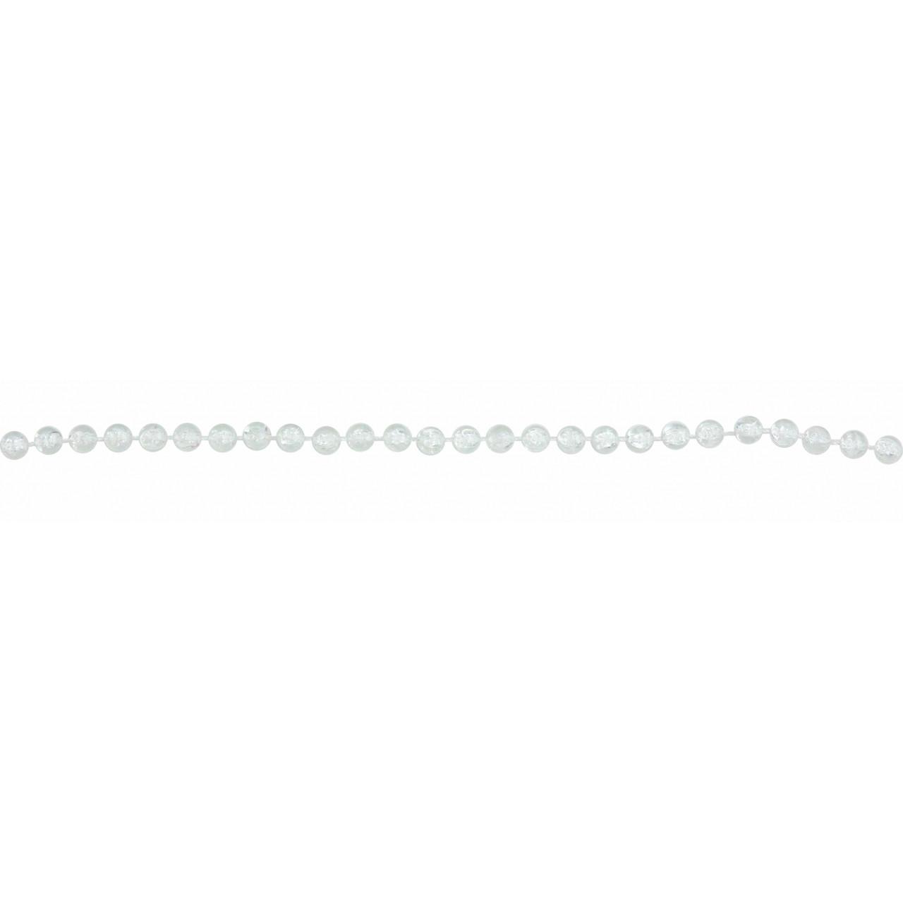 Намиста  новорічні 6мм * 3м, кристал