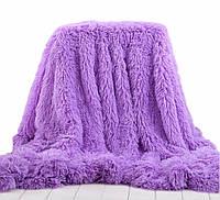 Пушистое плед-покрывало Leopollo 150х200 см Фиолетовый 0712, КОД: 1198487
