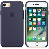 Чехол для iPhone (5 - XS Max)  — Original Silicone Case — Midnight Blue