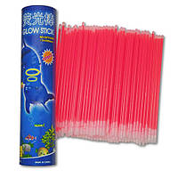 Неоновые браслеты светящиеся SoFun glow stick красные 100 штук, фото 1
