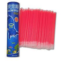 Неоновые браслеты светящиеся SoFun glow stick красные 100 штук