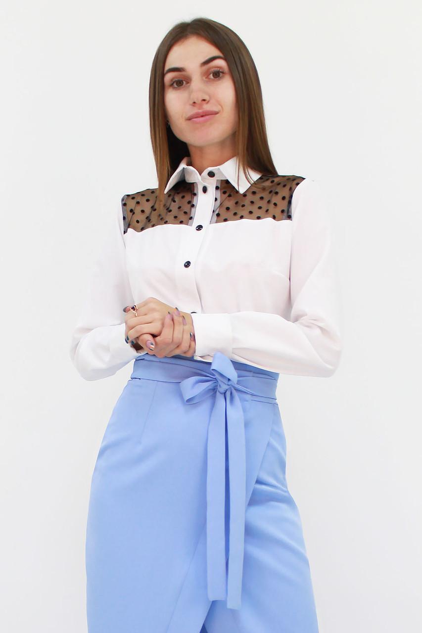 S, M, L, XL / Класична жіноча блузка Brenda, білий