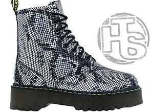 Женские ботинки Dr.Martens Jadon Boots Black White (с мехом) 83265002