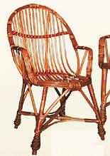 Кресло плетеное КО-6. Кресло из лозы.