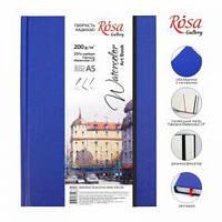 Блокнот для акварели A5, 200г/м2, середнее зерно, 32 листа, бумага белая, Watercolor (Fabriano), ROSA Gallery