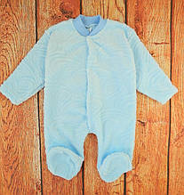 Комбинезон махровый без капюшона для новорожденного, Голубой