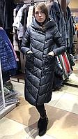 Женская длинная куртка пальто зима 2020 в стиле одеяло