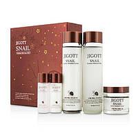 Уходовый набор с муцином улитки Jigott Snail Skin Care 3 Set