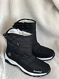 Дутики черные зима с густым мехом, фото 3