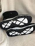 Дутики черные зима с густым мехом, фото 5
