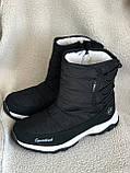 Дутики черные зима с густым мехом, фото 2