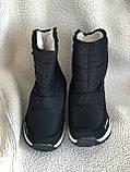 Дутики черные зима с густым мехом, фото 6