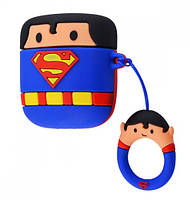 Чехол Grand Marvel x DC Case для AirPods Superman Blue NC-22871-Superman, КОД: 1283469