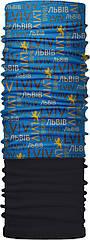Зимовий бафф Бандана-трансформер  Львов 1 Чорно-блакитний ZBT-054, КОД: 131860