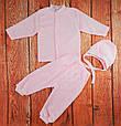 Костюмчик для новорожденных махровый, розовый, фото 3