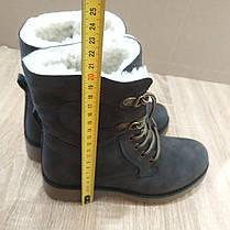 Черевики зимові стилі timberlend високі на шнурівці (з відворотом) сірі теплі еврозима, фото 3