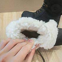 Черевики зимові стилі timberlend високі на шнурівці (з відворотом) сірі теплі еврозима, фото 2