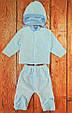 Костюмчик для новорожденных махровый, голубой, фото 2