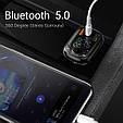 Bluetooth FM модулятор + Быстрая зарядка USB QC 3.0 + Type C + Громкая связь + microSD + Вольтметр, фото 6