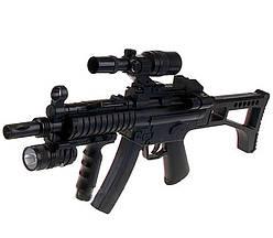 Автомат снайперская винтовка CYMA HY017B с пульками,лазерным прицелом, утяжеленный