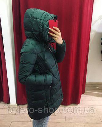 Куртка женская в изумрудном цвете, фото 2