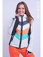 Куртка лыжная женская 8693 9/33 оранжевый с бирюзовым