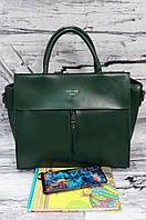 Женская сумка из натуральной кожи Galanty 10141C green.