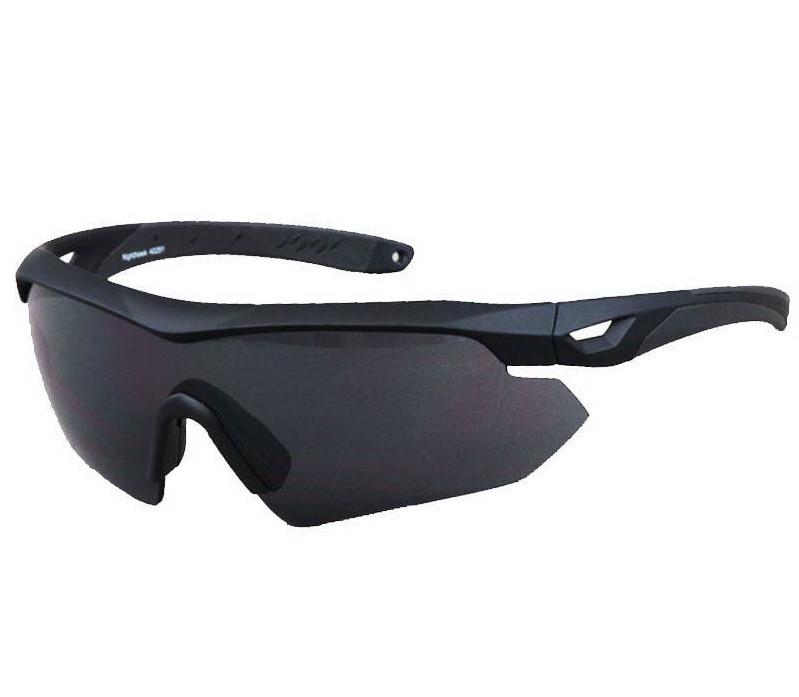 Окуляри тактичні Swiss Eye Nighthawk (+2 комплекти змінних лінз), чорна оправа