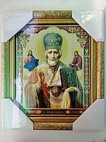Икона Святой Николай 20*24см Стекло Дерево