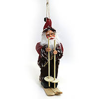 """Новогодняя игрушка-сувенир 7"""" """"Дед Мороз на лыжах"""""""