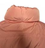 Дутая розовая куртка с капюшоном, размеры 42 - 48, фото 6