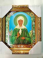 Икона Святая Матрона 20*24 см Стекло Дерево