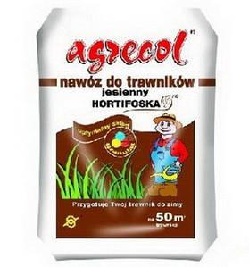 Удобрение Agrecol Hortifoska осеннее для газонов 25 кг