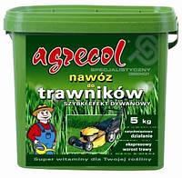 Удобрение Agrecol для газонов быстрый ковровый эффект 5 кг