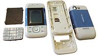 Корпус для Nokia 5200 Blue - White со средней частью и русской клавиатурой