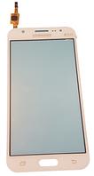 Сенсорний екран (тачскрін) для Samsung J500, J5 White