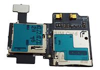 Разъем SIM-карты Samsung i9500 на шлейфе с разъемом MicroSD