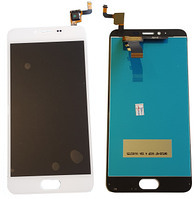 Дисплей для Meizu M5, m611a с сенсорным экраном, белый