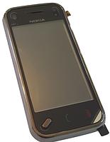 Сенсорный экран (тачскрин) для Nokia N97 Mini с рамкой Black high copy