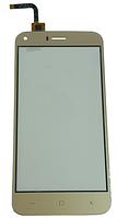 Сенсорний екран (тачскрін) для телефону S-TELL M621, UMI London, Bravis A506, золотий