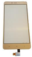 Сенсорний екран (тачскрін) для Xiaomi Redmi Note 4 Gold