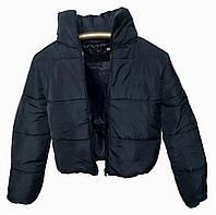 Синяя теплая куртка с капюшоном, много цветов, размеры 42 - 48