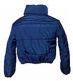 Дутая зимняя куртка с капюшоном, цвет Электрик, много цветов, размеры 42 - 48, фото 7