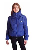 Дутая зимняя куртка с капюшоном, цвет Электрик, размеры 42 - 48