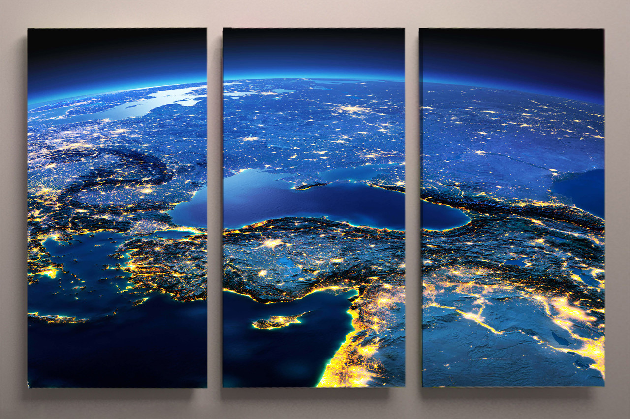 Модульная картина 90х60 Земля