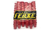 Колпачки пластиковые на гайку 32 Красные 60шт